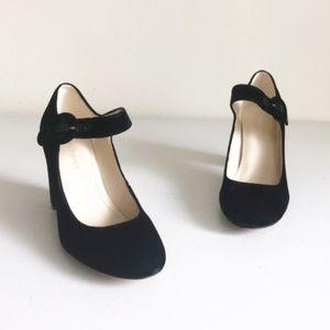 Marc Fisher Shaylie2 Velvet Mary Jane Heels 6.5